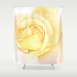 Blushing Yellow Rose Shower Curtain