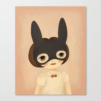 bunny Canvas Prints featuring Bunny by The Midnight Rabbit