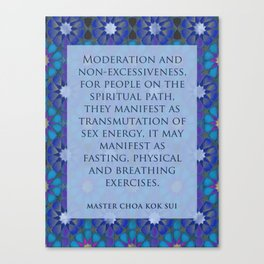 Moderation Canvas Print