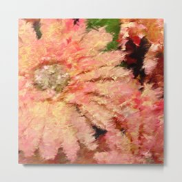 Gerbera Daisy Abstract Metal Print
