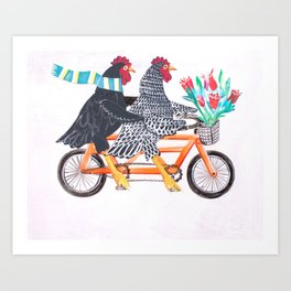 Bertha and Ebenezer Art Print
