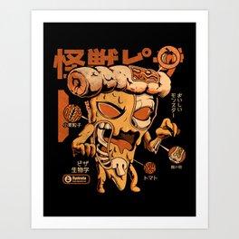 Pizzazilla X-ray Art Print