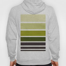 Olive Green Minimalist Mid Century Modern Color Fields Ombre Watercolor Staggered Squares Hoody