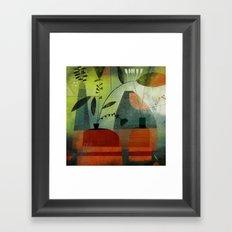 LAYERED VASES Framed Art Print