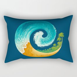 Spiral Beach Rectangular Pillow