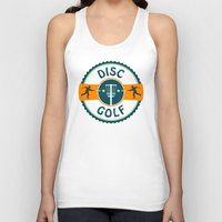 golf Tank Tops featuring Disc Golf by Phil Perkins