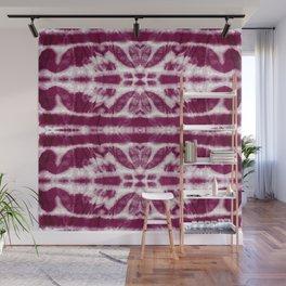 Tie-Dye Burgundy Twos Wall Mural