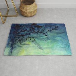 Underwater Ocean Foliage Rug