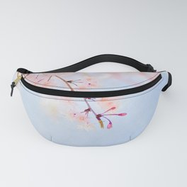 Cherry pink blossoms watercolor painting #4 Fanny Pack
