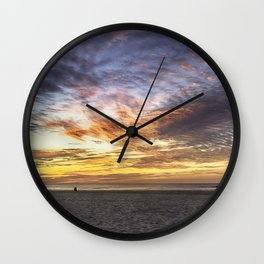 Good Harbor Beach Sunrise Wall Clock