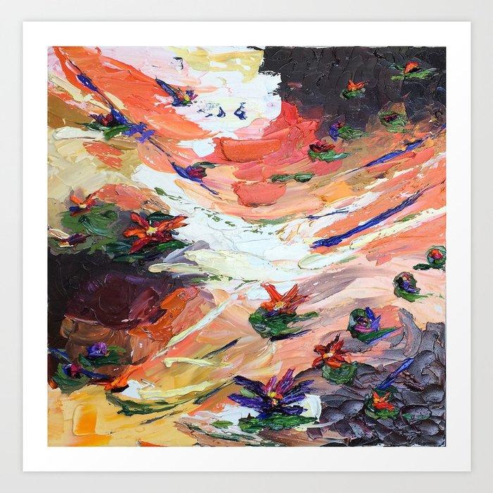 Sunset Lillies Kunstdrucke