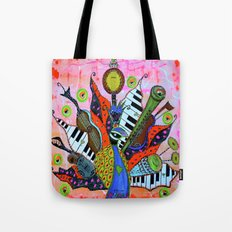 FEATHERED FANFARE Tote Bag