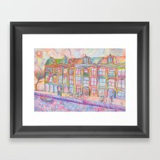 Wandering Amsterdam - Colored Pencil Framed Art Print