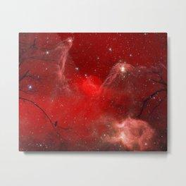Electric Red Metal Print