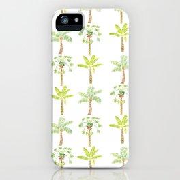 Tropical Tree Print iPhone Case