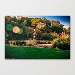 Fountain with Sunspots Canvas Print