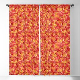 Gummy Sour Peach Rings Photo Pattern Blackout Curtain