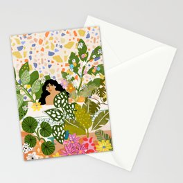 Bathing with Plants Stationery Cards