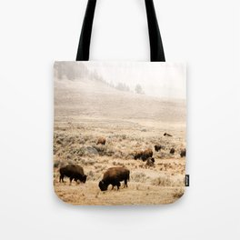 A Snow Storm Blowing In Tote Bag