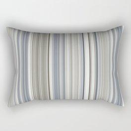 Blue grey Tan Stripes Rectangular Pillow