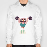 muscle Hoodies featuring Monsieur Muscle  by Geekygirl