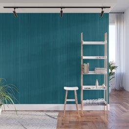 Tropical Dark Teal Inspired by Sherwin Williams 2020 Trending Color Oceanside SW6496 Smooth Wood Grain Pattern Wall Mural
