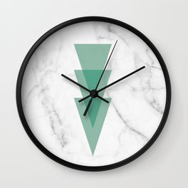 Marble Scandinavian Design Geometric Triangle Wall Clock