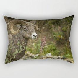 Ram Eating Fireweed Rectangular Pillow
