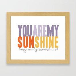 {sunshine-purple} Framed Art Print