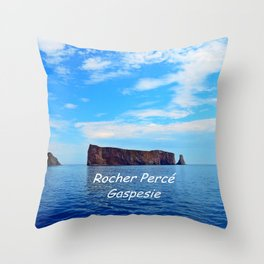Perce Gaspesie Edition Speciale Throw Pillow