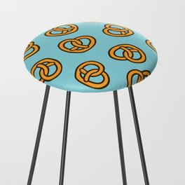 I Heart Pretzels Pattern Counter Stool