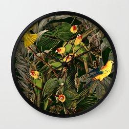 Floral and Birds XXXVI Wall Clock