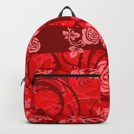 roses need thorns vector art red Backpack