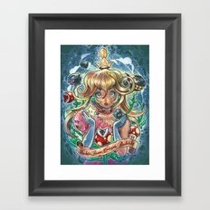 absolute power corrupts absolutely Framed Art Print