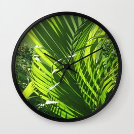 It's All About Greenery Wall Clock