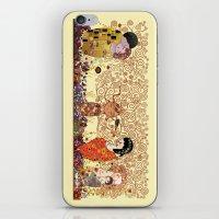 klimt iPhone & iPod Skins featuring Kokeshis Klimt by Pendientera