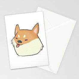 shiba head Stationery Cards