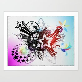 STAR FLOWER. Art Print