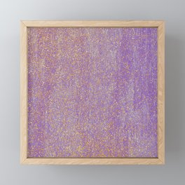 Elegant purple lavender faux gold glitter Framed Mini Art Print