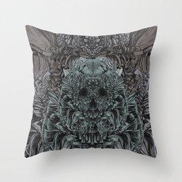 Skull Peaces Throw Pillow