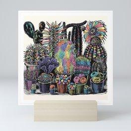 Trippy Cactus Mini Art Print