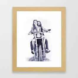 Biker Babes Framed Art Print