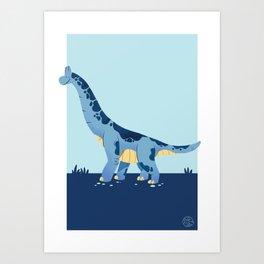 Happy Brachiosaurus • Art Print