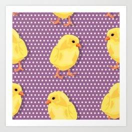 Chiken pattern Art Print