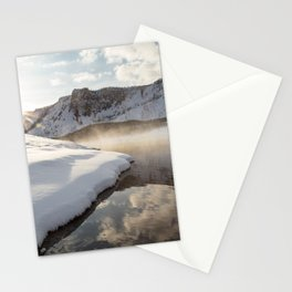 Yellowstone National Park - Bison tracks along the Madison River Stationery Cards