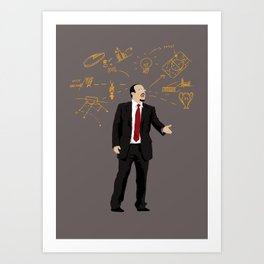 THE THINKER - Rafael Benitez Art Print