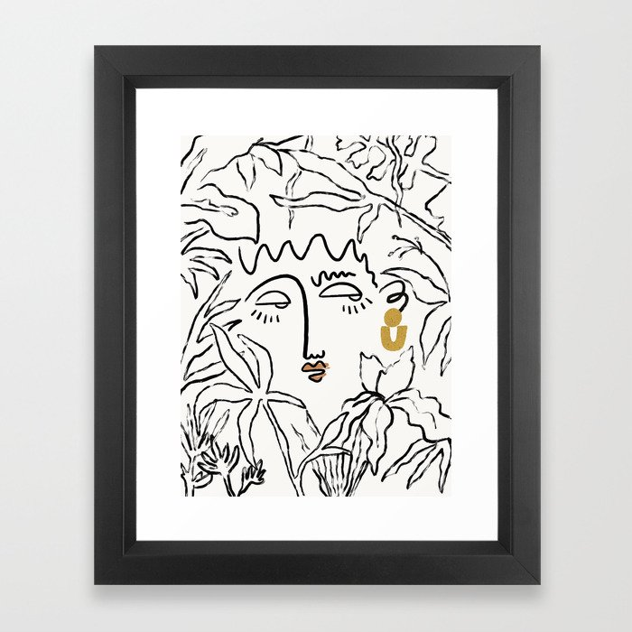In The Jungle Framed Art Print