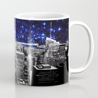 new york city Mugs featuring new york city. Blue Stars by 2sweet4words Designs