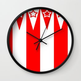 Big Top Stripes Wall Clock