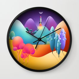 Lift Off To The Moon Alice Wall Clock